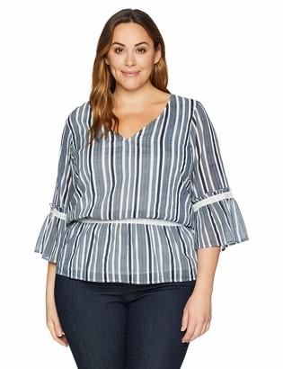 Junarose Women's Plus Size Lazias Three Quarter Sleeve Blouse