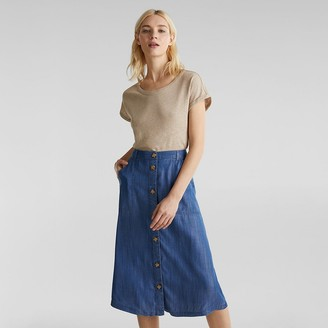Esprit Buttoned Midi Skirt