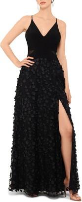 Xscape Evenings Floral Applique Gown