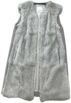 Pinko Grey Rabbit Jacket for Women
