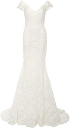 Isa Belle Isabelle Armstrong Delilah Off-The-Shoulder Lace Mermaid Gown
