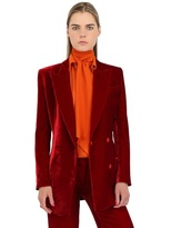 uncategorized  Who made Lily Aldridges red velvet pants suit, shoes, and jewelry that she wore in New York on September 5, 2014?