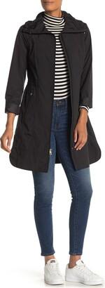 Cole Haan Packable Hooded Rain Coat