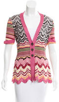 Missoni Patterned Short Sleeve Cardigan