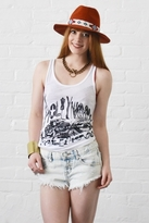 Lauren Moshi Lily Hollywood Camera Swing Tank in White