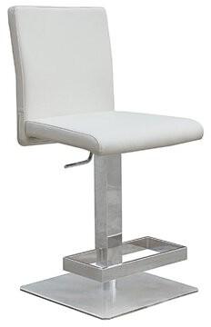 Orren Ellis Witton Adjustable Height Bar Stool Color: White