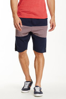 Howe &Backside& Stripe Panel French Terry Knit Shorts