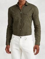 John Varvatos Cotton Military Shirt