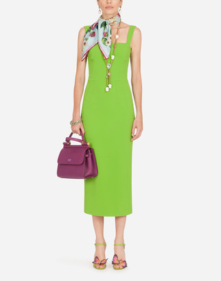 Dolce & Gabbana Sleeveless Cady Midi Dress