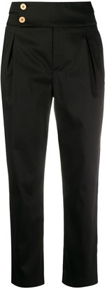 L'Autre Chose Side-Button Tapered Trousers