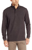 Haggar Men's Houndstooth Knit Quarter Zip Sweater