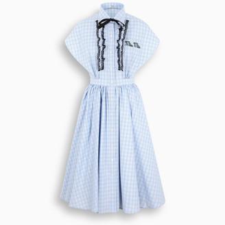 Miu Miu Flared sky light blue dress