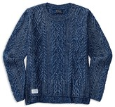 Ralph Lauren Girls' High Low Aran Sweater - Big Kid