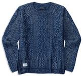 Ralph Lauren Girls' High Low Aran Sweater - Sizes S-XL