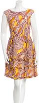 Karen Walker Paisley A-Line Dress