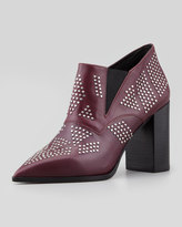 See by Chloe Studded Pointy-Toe Bootie, Black