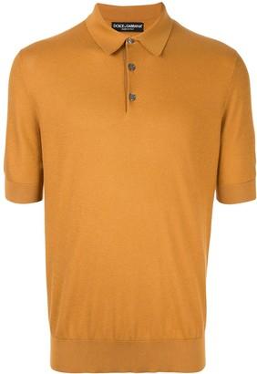 Dolce & Gabbana Fine Knit Polo Shirt
