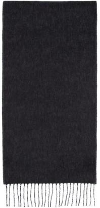 Loewe Black and Off-White Anagram Scarf