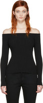 Rag & Bone Black Karl Off-the-shoulder Pullover