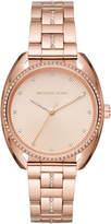 MICHAEL Michael Kors 38mm Libby Crystal Bracelet Watch, Rose Golden