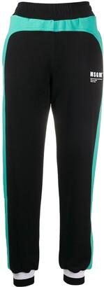 MSGM Colour-Block Track Pants