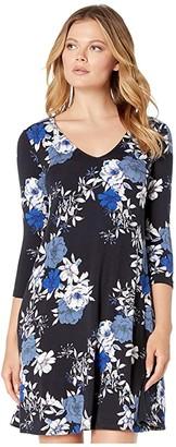 Karen Kane 3/4 Sleeve Tessa Dress (Print) Women's Dress