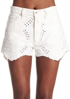 Off-White Lace-Detail Mini Shorts