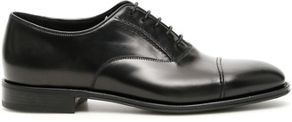 Prada Brushed Low Heeled Lace-Up Shoes
