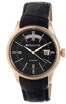 Heritor Vernon Rose Gold-tone Case Black Leather Automatic Men's Watch HR5808