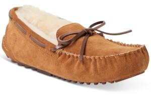 Dearfoams Women's Fireside Victoria Shearling Moccasin Slippers Women's Shoes
