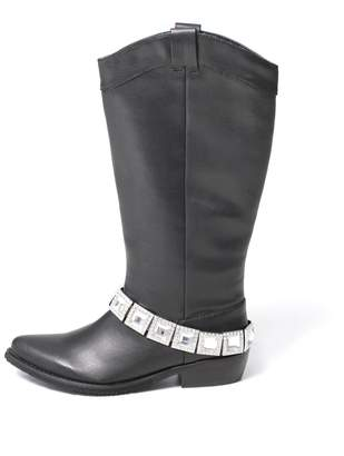 Grazie Black Rhinestone Boot