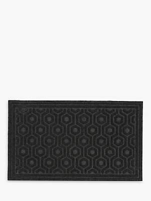John Lewis & Partners Moulded Honeycomb Door Mat, Charcoal