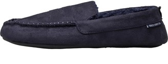 French Connection Mens Moccasin Slippers Navy