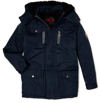 Yoki Boys Hooded Jacket with Sherpa Lined Hood & Zipper Pockets, Sizes 8-20