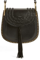 Chloé 'Small Hudson' Studded Calfskin Leather Crossbody Bag - Black