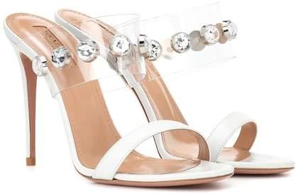 Aquazzura Galaxy 105 crystal-embellished sandals