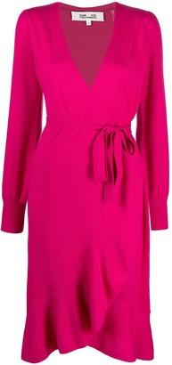Diane von Furstenberg Fluted-Hem Wrap Dress