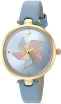 Kate Spade Women's 'Holland' Quartz Stainless Steel and Leather Casual Watch, Color: (Model: KSW1231)