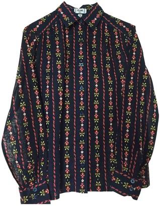 Celine Navy Cotton Top for Women Vintage