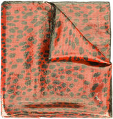 Roberto Cavalli animal print scarf