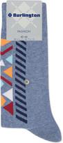 Burlington Geometric print cotton-blend socks