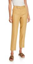 Loro Piana Derk Cropped Slim-Leg Stretch-Cotton Pants