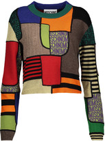 Moschino Patchwork-effect paneled wool sweater