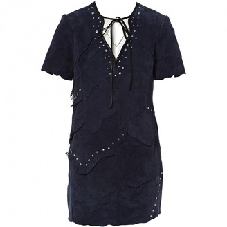 Coach Navy Suede Dresses