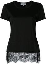 Carven lace trim T-shirt - women - Cotton - S