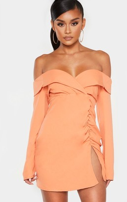 Bardot Paradis Chestnut Ruched Detail Blazer Dress