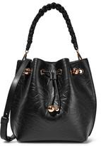 Sophia Webster Romy Butterfly Embossed Leather Shoulder Bag - Black