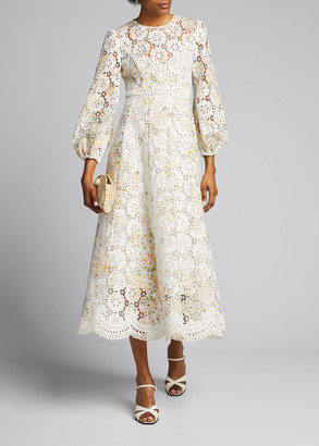 Zimmermann Amelie Embroidered Long Dress