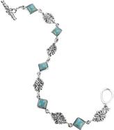 Barse Women's Scrolled Turquoise Link Bracelet BASIB04T01