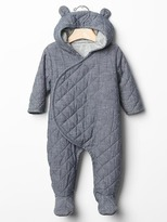Gap Quilted chambray bear one-piece